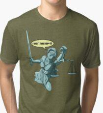 Lady Justice to the Rescue Tri-blend T-Shirt