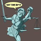 Lady Justice to the Rescue by Crocktees