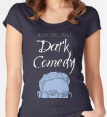 Open Mike Eagle Dark Comedy Minimal Vector Women's Fitted Scoop T-Shirt