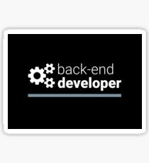 Back-End Developer Sticker