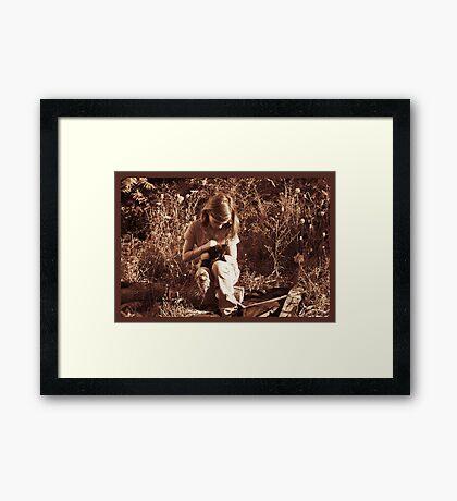 So Love Begins Framed Print