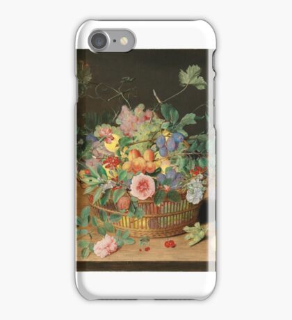 Isaak Soreau STILL LIFE WITH A BASKET OF FLOWERS AND FRUIT,  iPhone Case/Skin