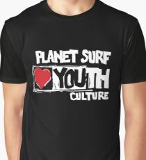 Planet surf love youth culture Graphic T-Shirt