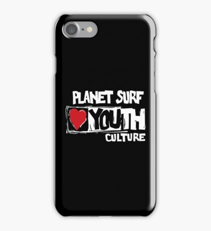 Planet surf love youth culture iPhone Case/Skin