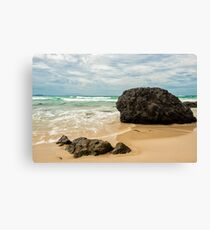Waves and beach at Snapper Rock, New South Wales Canvas Print