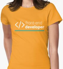 Front-End Developer Womens Fitted T-Shirt