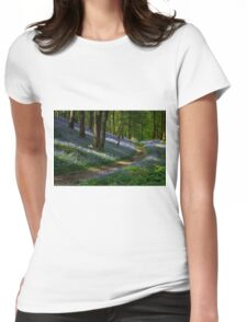 Pathway through the Bluebells Womens Fitted T-Shirt