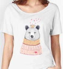 Bear lover of coffee Women's Relaxed Fit T-Shirt