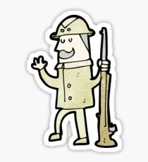 cartoon safari hunter Sticker