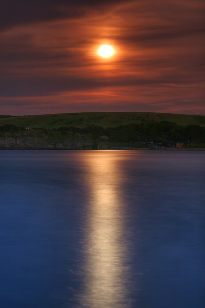 Kimmeridge Moonrise by Alex Clark