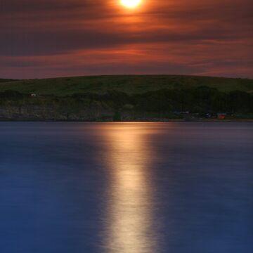 Kimmeridge Moonrise by acphotography