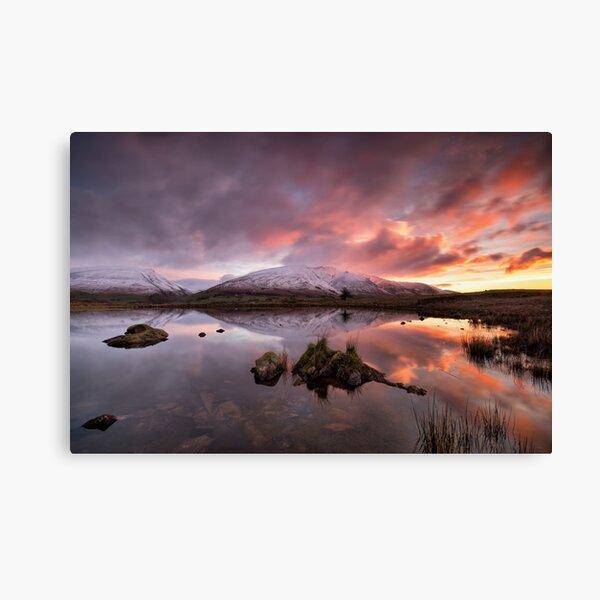 Snow capped Blencathra sunrise Canvas Print