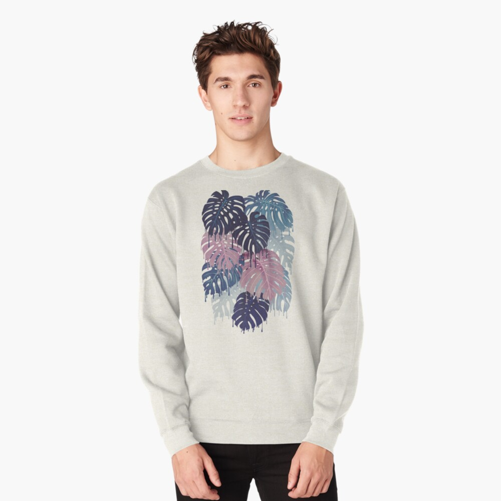 Monstera Melt Pullover Sweatshirt
