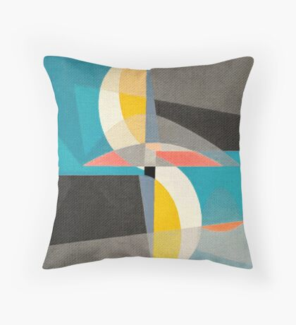 Sailing on the Canal Throw Pillow
