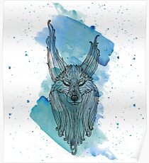 Le Loup Bleu pour CAP Loup Poster