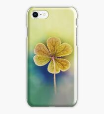 Heart-shaped Clover like Oxalis Macro. St Patrick's Day iPhone Case/Skin