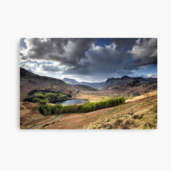 Blea Tarn and Langdale Pikes Canvas Print