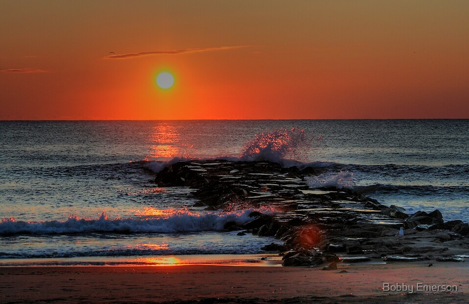 Sunrise Jetty by Bobby Emerson