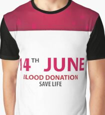 Blood Donation Graphic T-Shirt