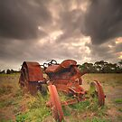 Briars Tractor - Mt Martha by Jim Worrall