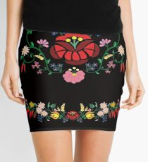 Folk Floral Composition  Mini Skirt