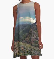 Stormfront over Sani Pass A-Line Dress