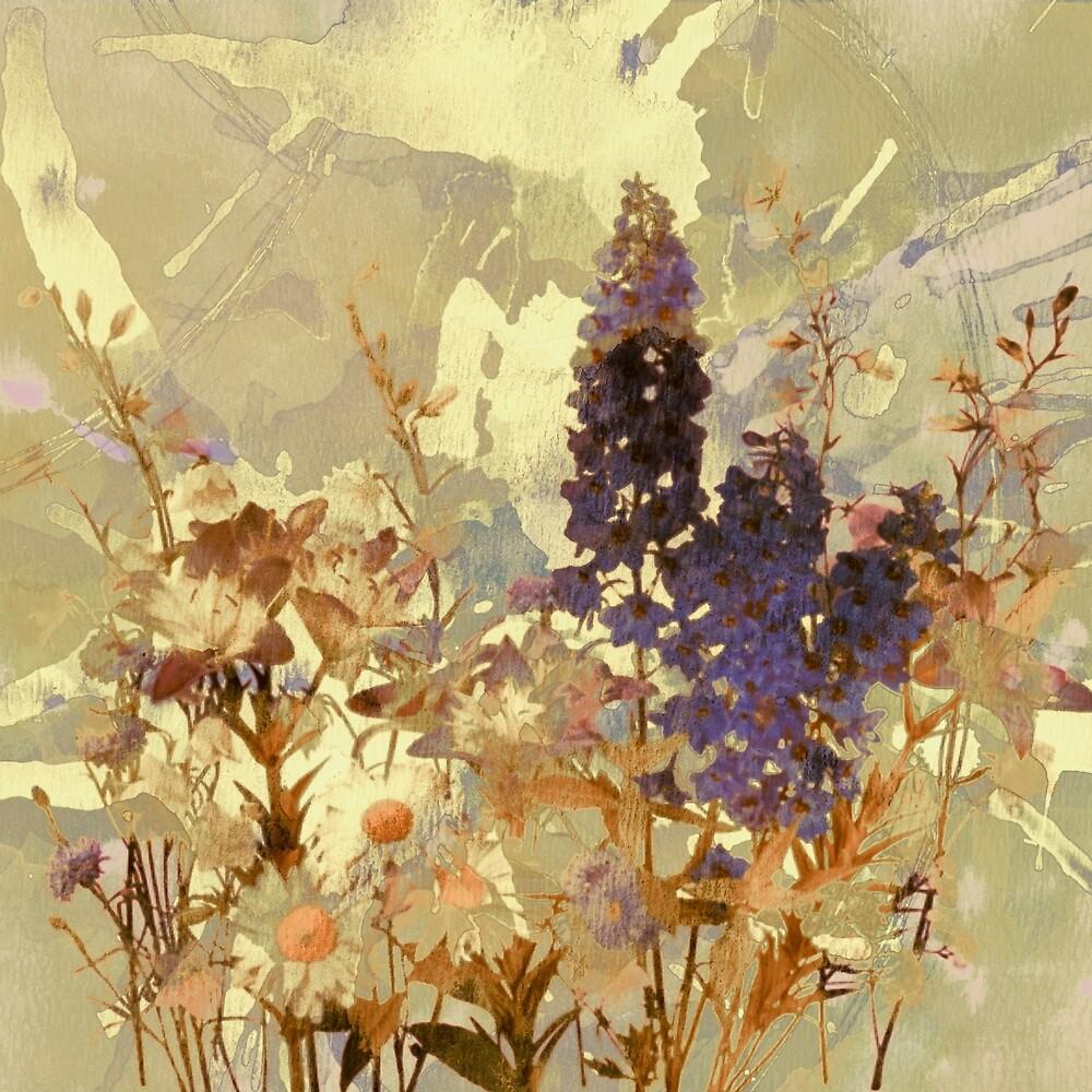 floral sur beige/floral on beige by clemfloral