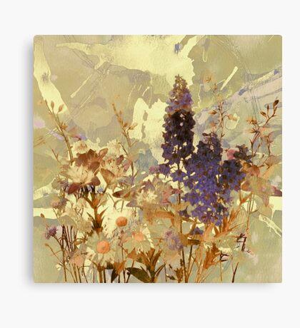 floral sur beige/floral on beige Canvas Print