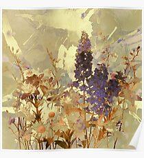 floral sur beige/floral on beige Poster