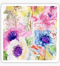 Floral sketch watercolor hand paint Sticker