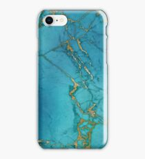 Blue Gilded Marble iPhone Case/Skin