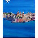 Retro Poster Malta Valetta  by artshop77