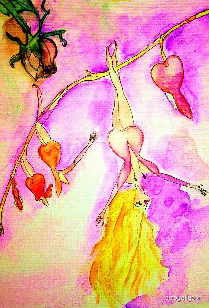 Fantasy Fairy Watercolor Art by Allyson Kitts