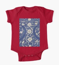 White And Blue Vintage Bohemian Gypsy Style Popular Retro Floral Patterns Kids Clothes