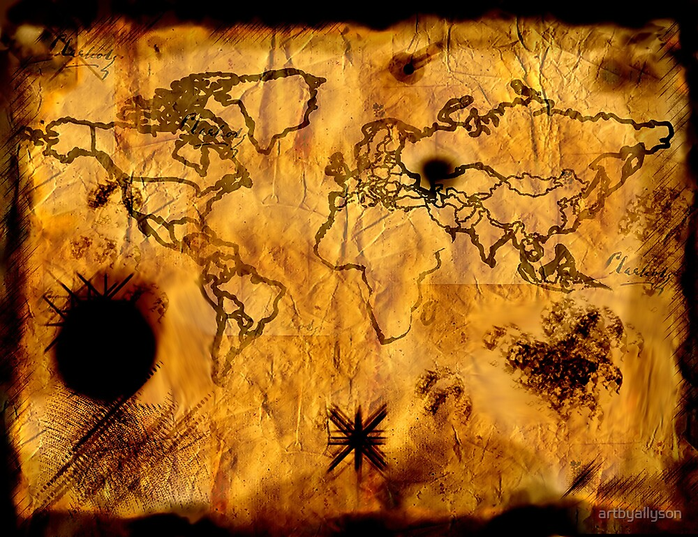 Pirate map by Allyson Kitts