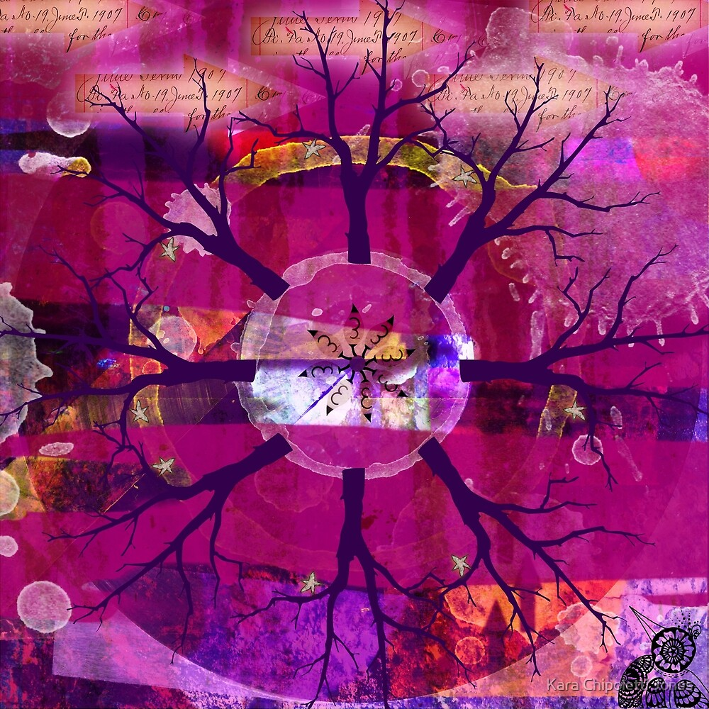 Star Leaf Mandala by Kara Chipoletti Jones