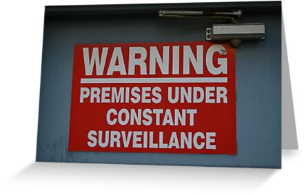 Signage v.2: Constant Surveillance by Jonathan Russell