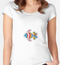 Color fish 1 Women's Fitted Scoop T-Shirt
