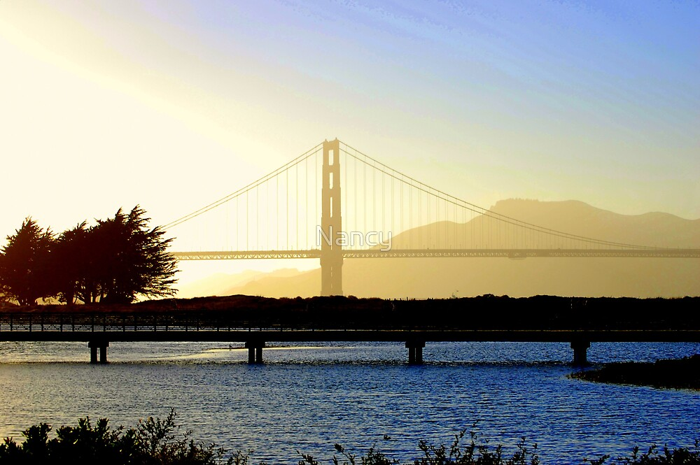 Golden Gate View by Nancy