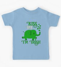 Kiss me I am Irish St. Patricks Elephant Kids Clothes