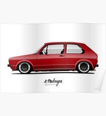 VW Golf mk1 Poster