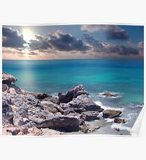 Sunrise on Campeche Beach  Poster