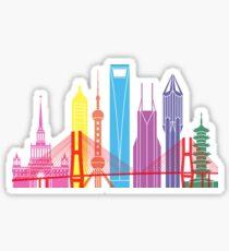 Shanghai V2 skyline pop Sticker