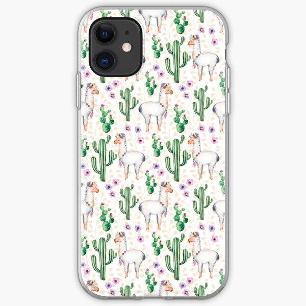 Funny Llama Pattern iPhone Soft Case