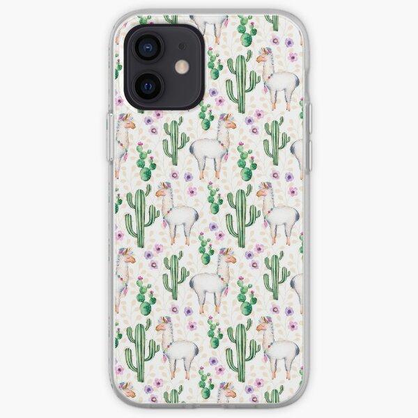 Funny Llama Pattern iPhone Soft Case