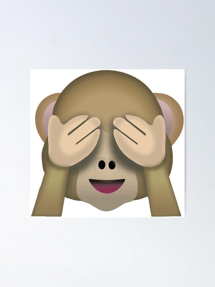 Sieh keinen bösen Affen Emoji Poster von totesemotes