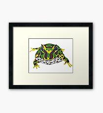 Pac Man Frog Framed Print