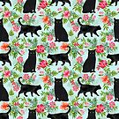Black cat hawaiian cat breeds cat lover pattern art print cat lady must have by PetFriendly by PetFriendly