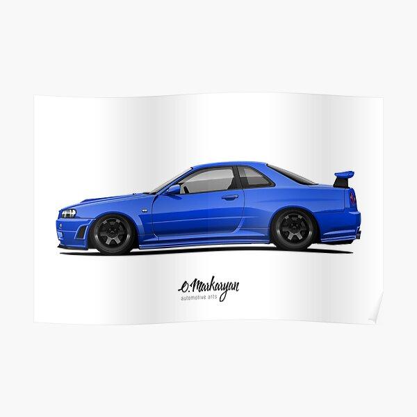 Skyline R34 GT-R Poster