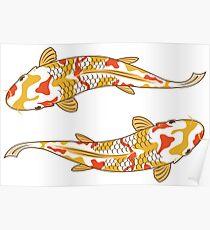 Koi Carp Fish - Fishing Ponds Poster
